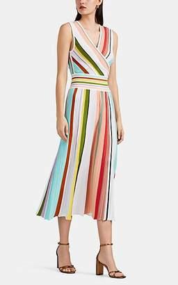 Missoni Women's Striped Rib-Knit Cotton Midi-Dress