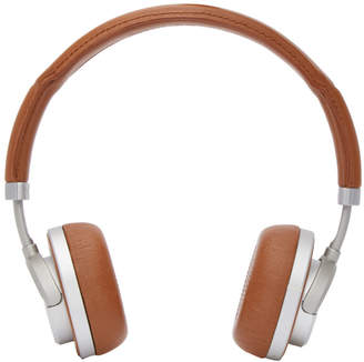 Master and Dynamic Brown and Silver Wireless MW50 Headphones