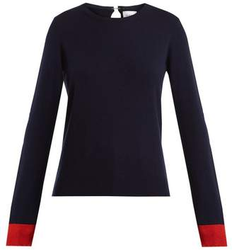 Barrie - Flower Patches Cashmere Sweater - Womens - Navy Multi