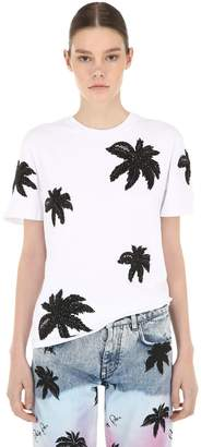 Philipp Plein Embroidered Cotton Jersey T-Shirt