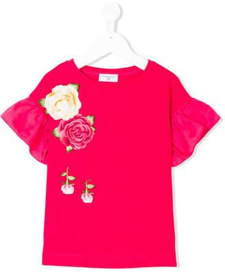 MonnaLisa floral embroidered shirt