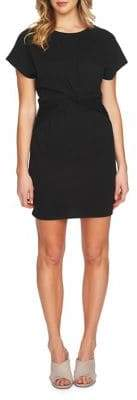 1 STATE 1.STATE Short-Sleeve Twist Front Bodycon Dress