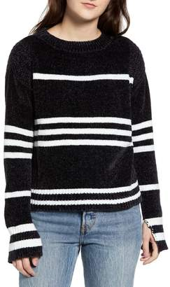 Love by Design Chenille Stripe Knit Sweater