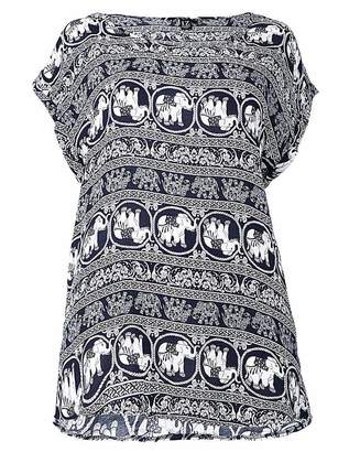 Izabel London Curve Elephant Print Top