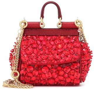 Dolce & Gabbana Micro Sicily embellished shoulder bag