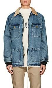 Fear Of God Men's Corduroy-Collar Denim Jacket - Md. Blue
