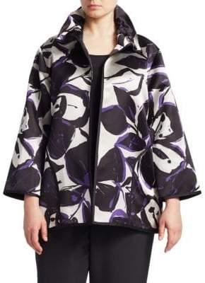 Caroline Rose Harvet Moon Bountiful Blooms Open-Front Jacket