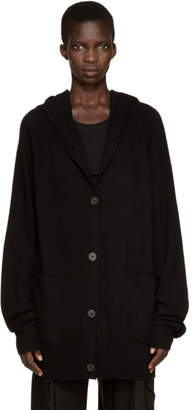 Ann Demeulemeester Black Wool Lomo Hoodie