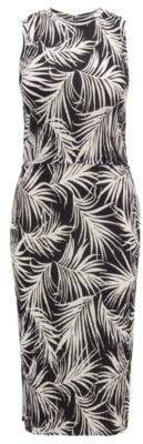 BOSS Hugo Slim-fit pleated dress all-over print S Patterned