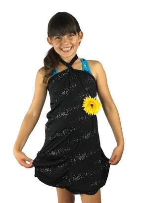 Kimberly Rosa Dressed'n-case® KIDS Cover-up and Bag in One! mer print beach dress. 7 Ways to Wear! Multi-wear Dress (M)