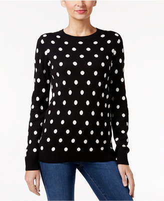 Charter Club Polka-Dot Sweater, Only at Macy's $59.50 thestylecure.com