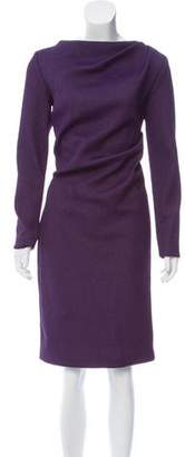 Christian Siriano Gathered Long Sleeve Dress