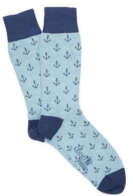 Corgi Anchor Socks in Blue