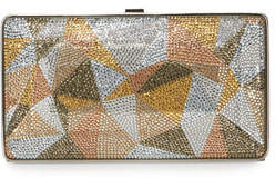 Judith Leiber Couture New Diamond Crystal Evening Clutch Bag, Silver/Multi