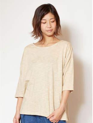 チャイハネ 【 】yul 無地スラブプレーンビッグシルエットTシャツ ベージュ