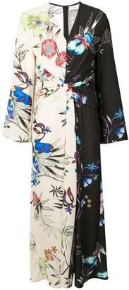 Etro floral print panelled maxi dress