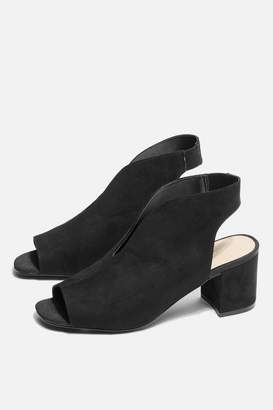 Topshop Ditsy V-Throat Sandals