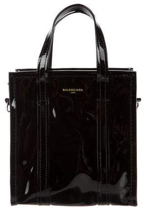 Balenciaga 2017 Patent Leather Bazaar XS Tote w/ Tags