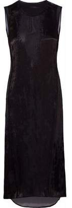 Belstaff Fil Coupé Satin-Chiffon Dress