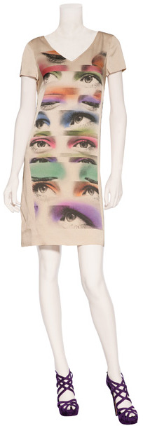 Moschino Cheap & Chic Nude Photo Print Dress