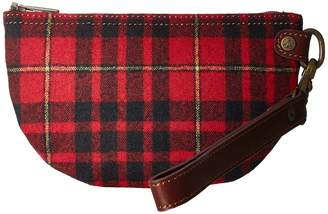 Pendleton Half Moon Clutch Clutch Handbags