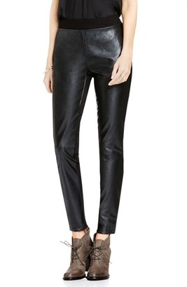 Two by Vince Camuto Faux Leather & Ponte Leggings $79 thestylecure.com
