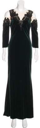 Marchesa Velvet Maxi Dress