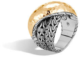 John Hardy Classic Chain 18k Gold & Silver Crossover Ring