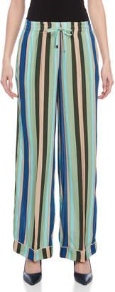 Liviana Conti Striped Wide Leg Pants