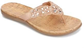 Kenneth Cole Reaction Glam-Athon Embellished Thong Sandal