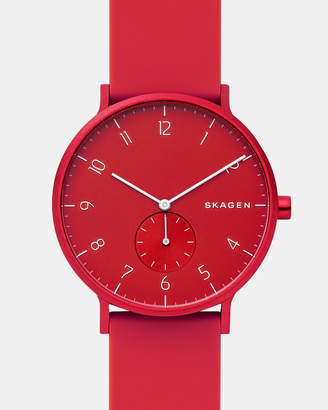 Skagen Aaren Kulor Red 41mm Analogue Watch