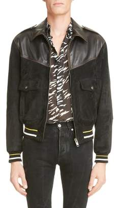 Givenchy Suede & Leather Bomber Jacket