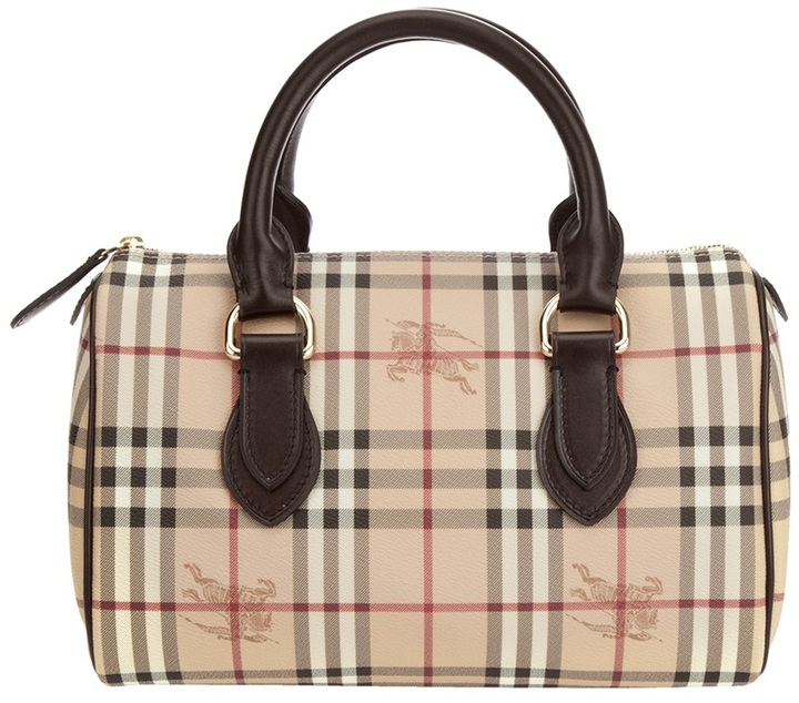 Burberry 'haymarket' check bowling bag