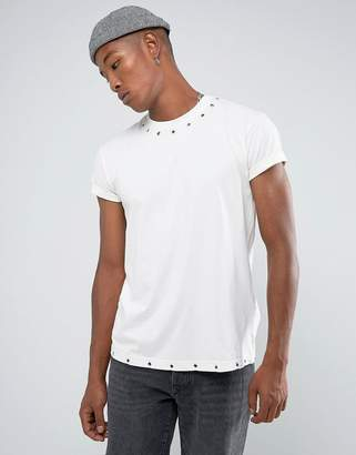 Night Addict Eyelet T-Shirt with Back Embroidery