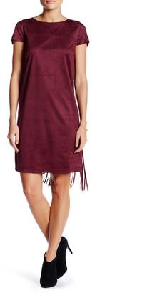 Kensie Faux Suede Fringe Dress $98 thestylecure.com