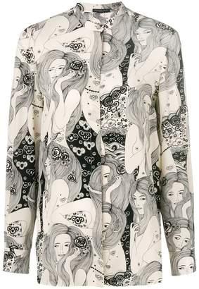 Alexander McQueen Eve print blouse