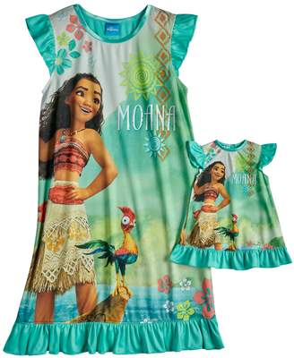 Disney Disney's Moana Dorm Nightgown & Doll Nightgown Set