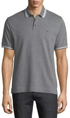 Z Zegna Pique Polo Shirt with Iconic Flag Logo
