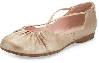 Taryn Rose Bryan Ruched Crisscross Ballerina Flat $140 thestylecure.com