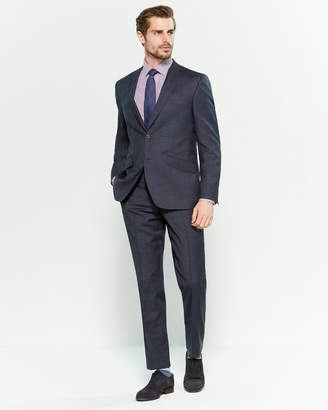 Ted Baker Two-Piece Blue Windowpane Plaid Suit