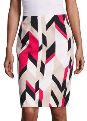 HUGO BOSS Vileana Printed Pencil Skirt