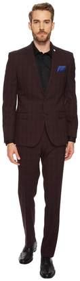 Nick Graham Evening on Mars Windowpane Suit Men's Suits Sets