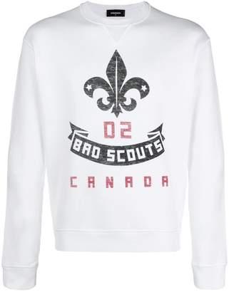 DSQUARED2 Bro Scouts crest print sweatshirt