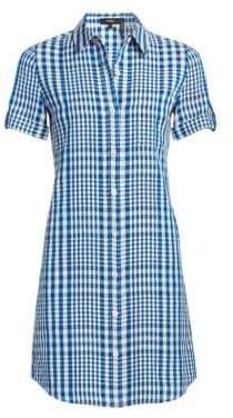 Theory Mayvine Check Shirtdress