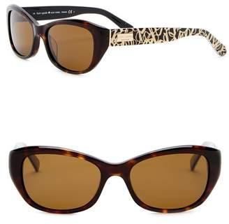 Kate Spade Keara 51mm Rectangle Cat Eye Sunglasses