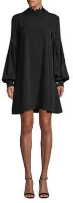 ABS by Allen Schwartz Collection Lace Neck Trapeze Dress