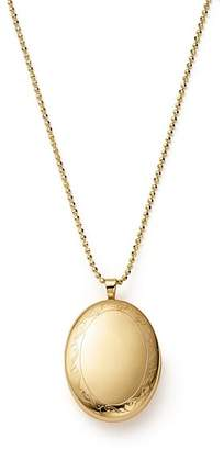 """Bloomingdale's 14K Yellow Gold Oval Swirl Locket Necklace, 22"""" - 100% Exclusive"""