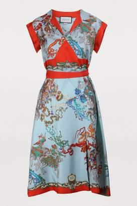 5d7dba07db0ba Gucci Red Silk Dresses - ShopStyle
