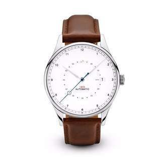 About Vintage - 1820 Automatic Pure Steel With Brown Strap
