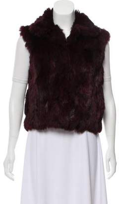 Adrienne Landau Fur Stand-Collar Vest